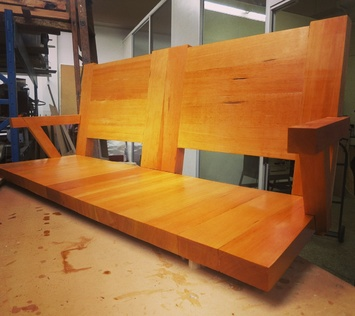 Handcrafted Fir bench
